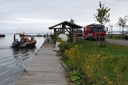 Brand op duwboot Markermeer