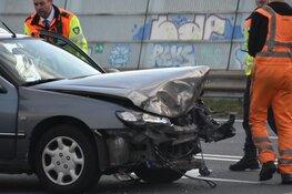 Ongeluk vlak voor Knooppunt Zaandam